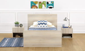 Mosman Old Bed with Open Storage, Twin