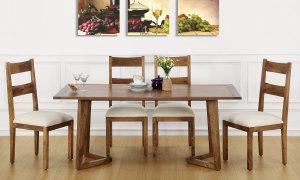 Anders 6 Seater Dining Table, Veneer Top