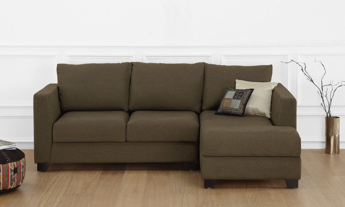 Beau Buy Oliver L Shape Sofa, 2 Seater With Chaise (R) Online In India    Livspace.com
